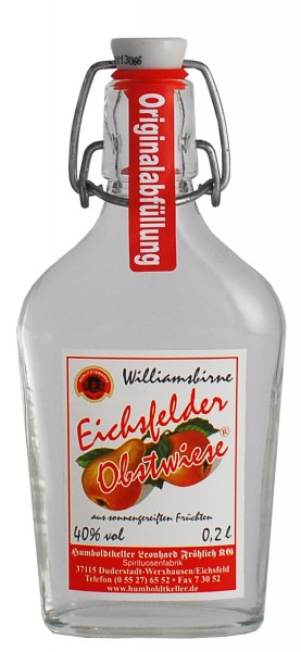 Eichsfelder Obstwiese - Williamsbirne - 40% vol