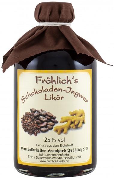 Fröhlich's Schokoladen-Ingwerlikör - 25% vol