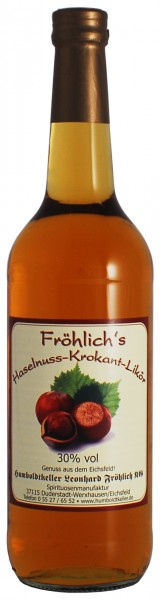 Fröhlich's Haselnuss-Krokant-Likör 30% vol