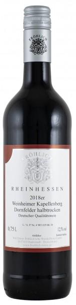 2018 Weinheimer Kapellenberg, Dornfelder Qualitätswein halbtrocken